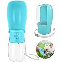 Botella de agua para perros, plegable para mascotas, portátil, a prueba de fugas, botella de agua para viajes, botella…