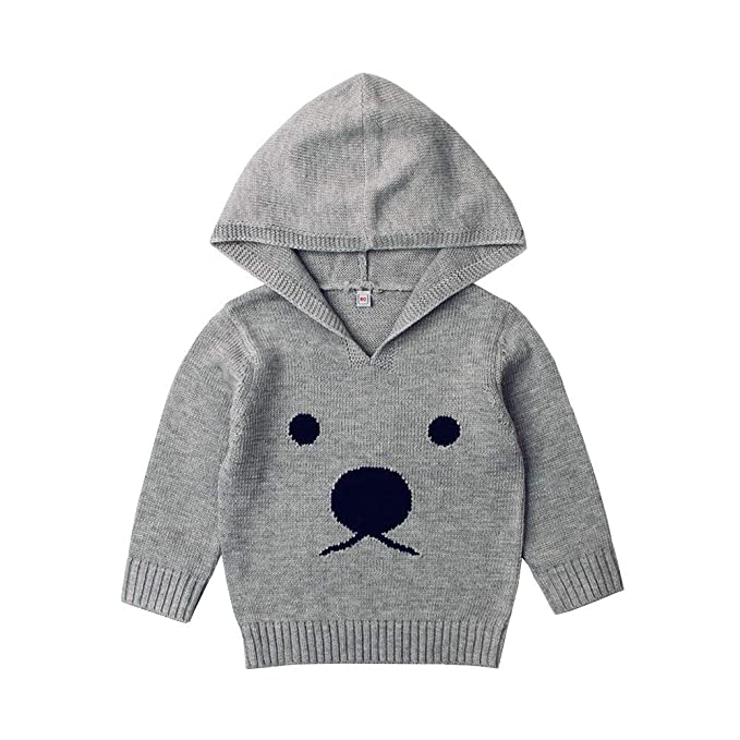 2d7dd626a Amazon.com  KONFA Toddler Baby Boys Girls Cartoon Bear Hooded ...