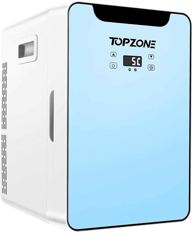 Mini Kühlschrank 20 Liter 2 In 1 Tragbare Kühlschränke Mit Kühl Und Heizfunktion 12v Dc 220v Ac Für Auto Und Haushalt Thermoelektrischer Mini Kühlschränke Mit Temperaturbedienfeld Elektro Großgeräte