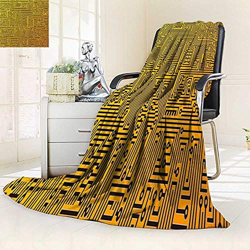 (YOYI-HOME Digital Printing Duplex Printed Blanket Abstract Depicting a Circuit Board Summer Quilt Comforter/79 W by 59