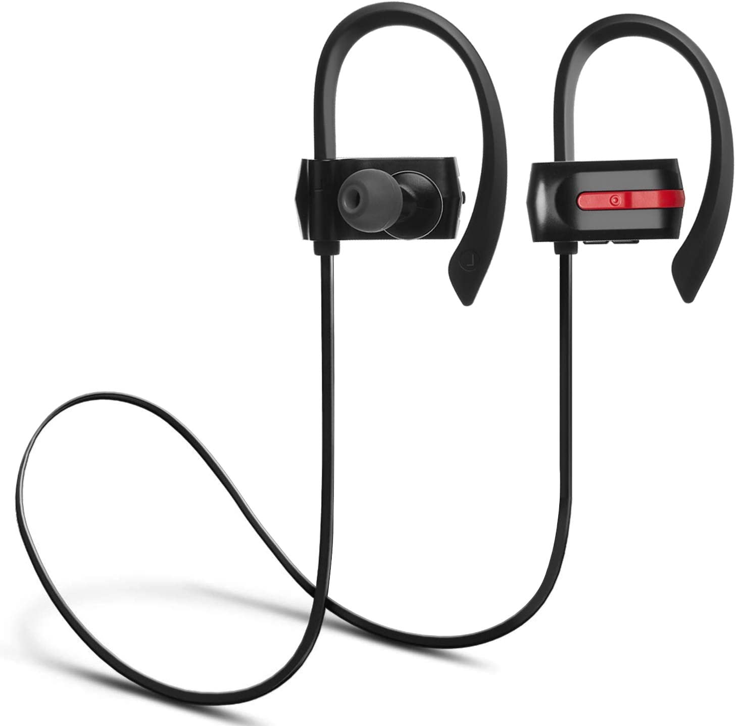 Auricolare Bluetooth, ZENBRE E3 Bluetooth 4.1 Stereo Auricolari, Auricolare Senza Fili Fino a 7 Hre di Riproduzione, Supporto Sweep Resistente Isolante con Bass Enhanced (Nero)