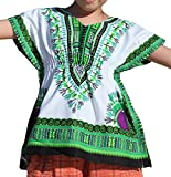 Product review for RaanPahMuang Childrens Afrikan Pull In Bright Dashiki Print V-Neck Cotton Shirt