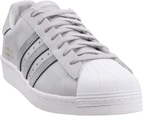 adidas Mens Superstar Casual Shoes, Grey, 10.5
