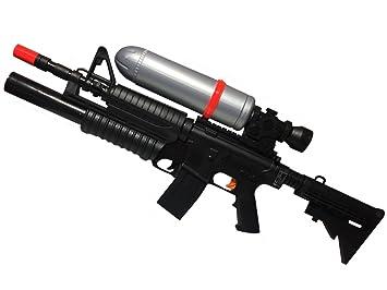 Immense Pistolet A Eau 78 Cm Fusil Mitraillette Avec Reservoir Plein