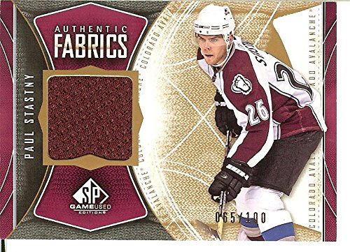 Hockey NHL 2009-10 Game Used Authentic Fabrics Gold #AFPA Paul Stastny MEM 65/100 Avalanche from GAME