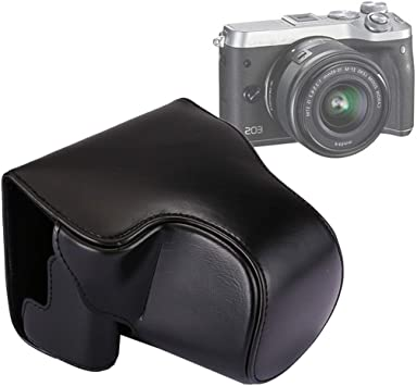 Black Color : Black YANTAIANJANE Camera Accessories Full Body Camera PU Leather Case Bag with Strap for Canon EOS M6