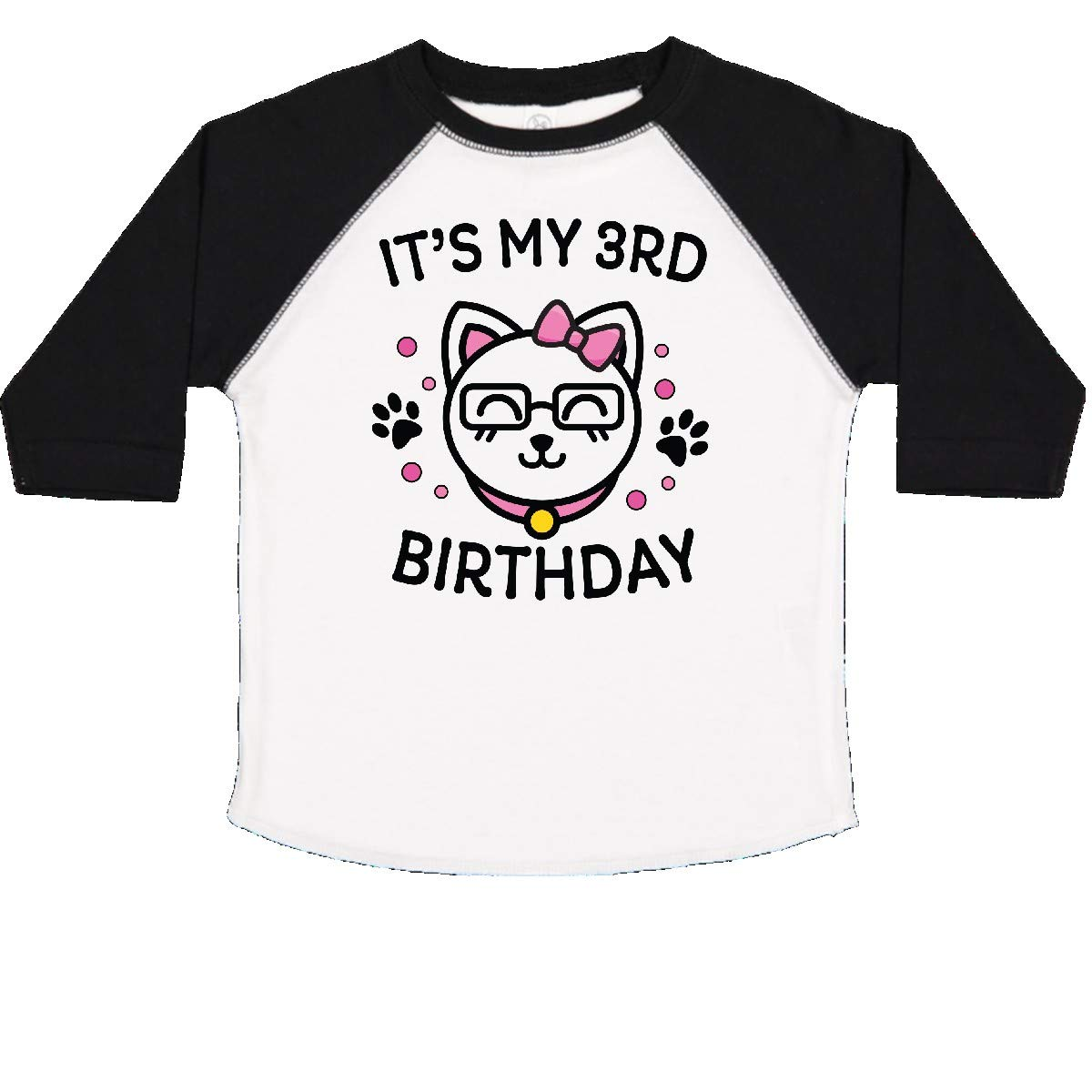 inktastic Its My 3rd Birthday with Cat in Glasses Toddler T-Shirt
