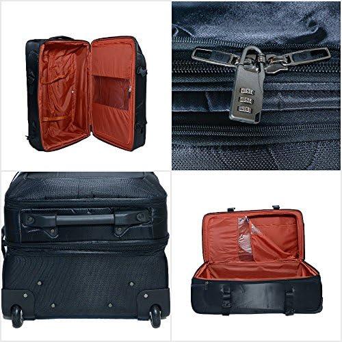 Morano Wheeled Duffel Bag 3 Pieces Set 28 24 20, Brown