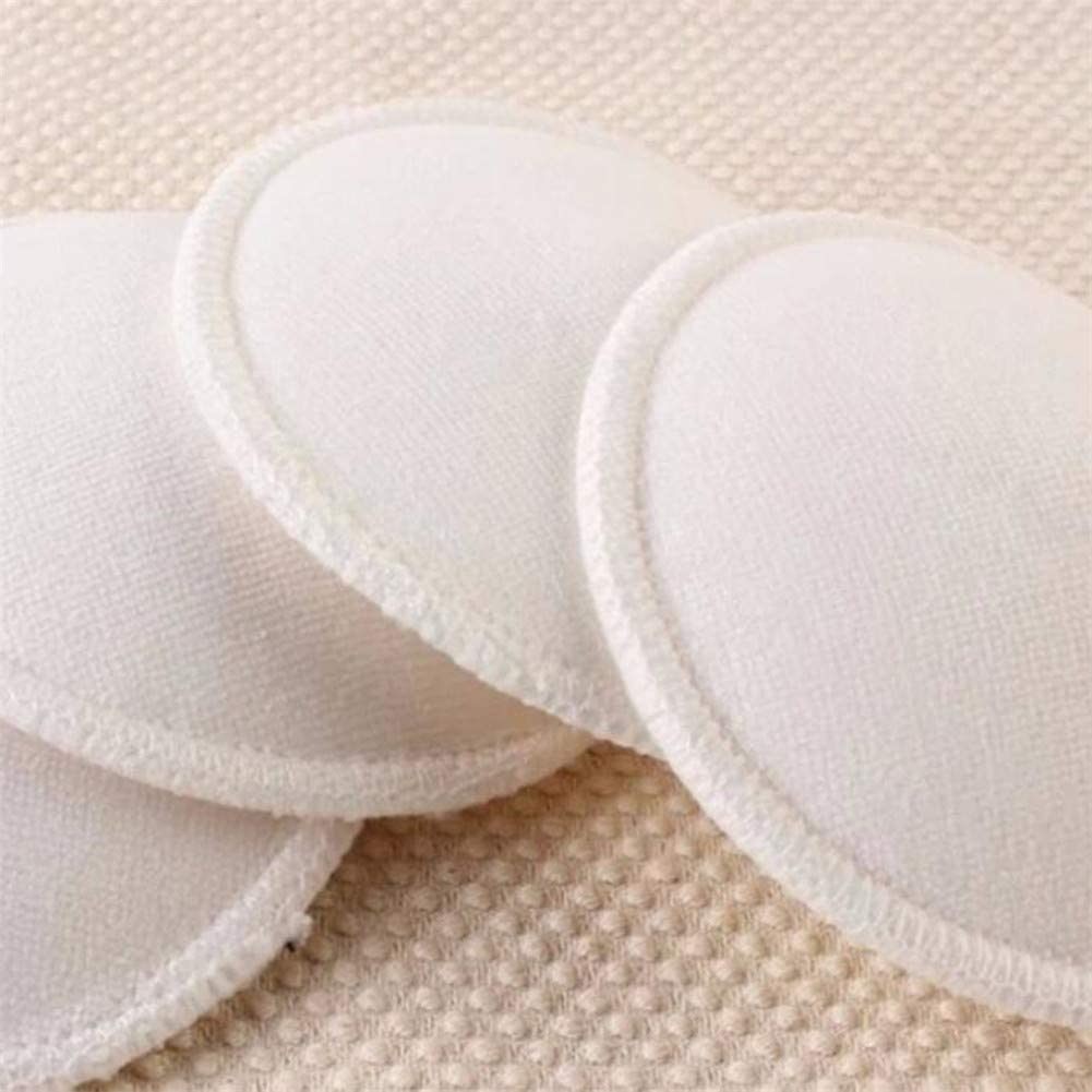 Huangyong 4pcs Washable Nursing Breast Pads Reusable Leak Proof Soft Bra Breastfeeding Pads