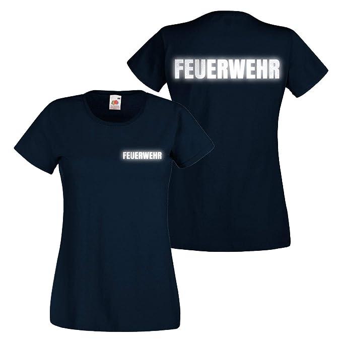 premium selection 49c1d cc172 Shirt-Panda Damen Feuerwehr T-Shirt - Druck Brust & Rücken
