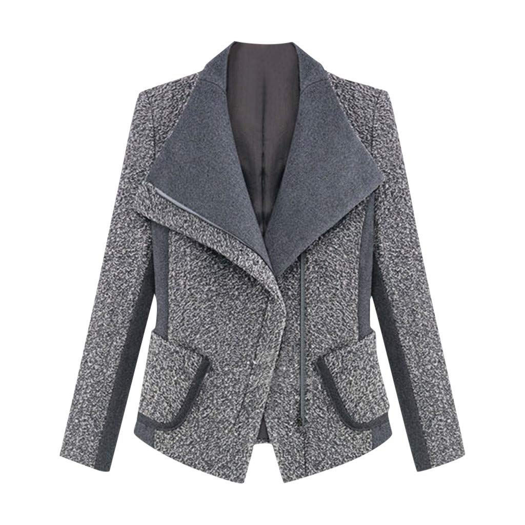 Wenini Ladies Women Office Blazer Long Sleeve Slim Autumn and Winter Office Work Coat Jacket Overcoat by Wenini Women Coat