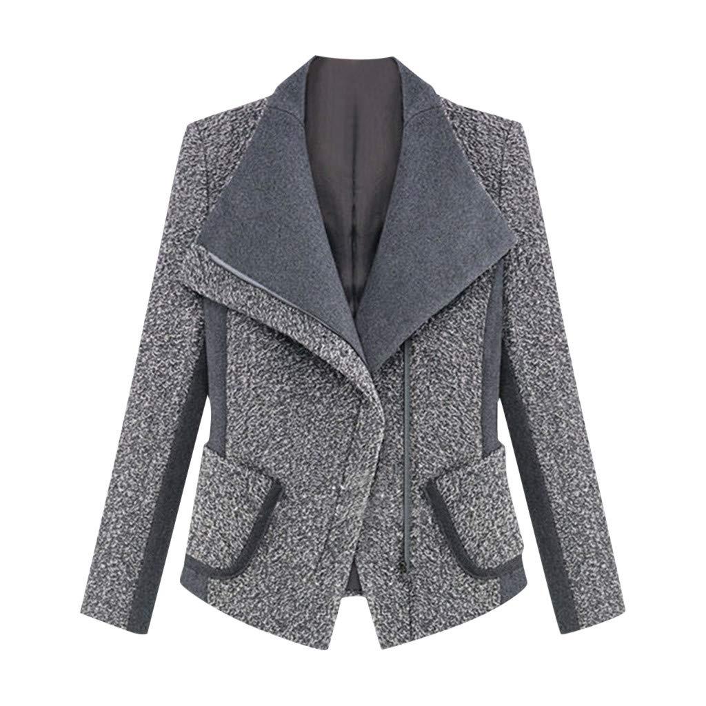 Wenini Ladies Women Office Blazer Long Sleeve Slim Autumn and Winter Office Work Coat Jacket Overcoat by Wenini Women Coat