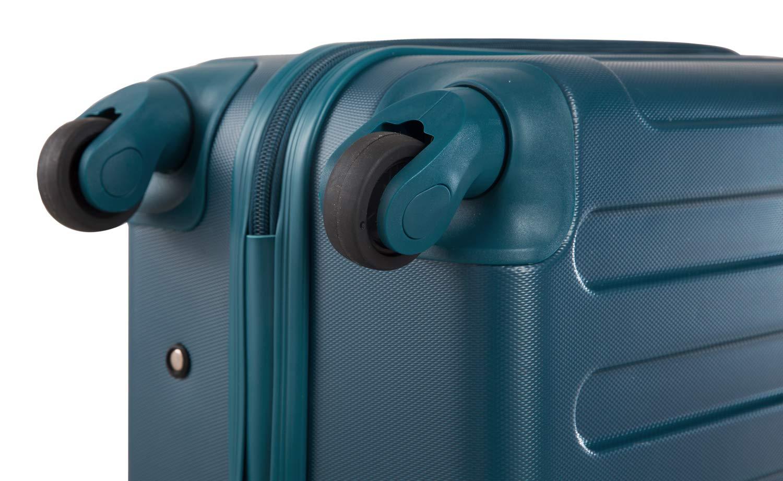 Mallette de Pilote ABS SUITLINE S3 Bleu P/étrole Bagages /à Main Valise /à roulettes Pilot Case Trolley Rigide 46 cm