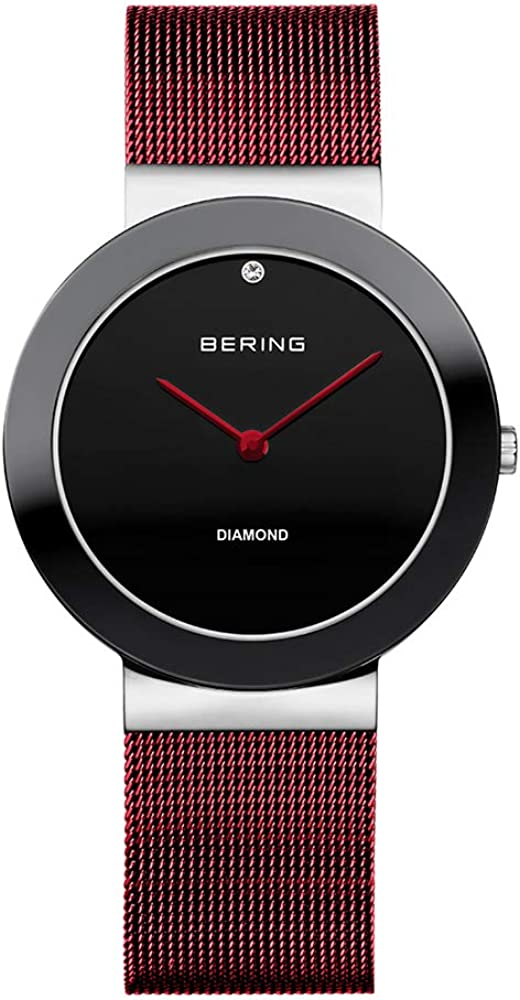 BERING Reloj Analógico para Mujer de Cuarzo con Correa en Acero Inoxidable 11435-Charity