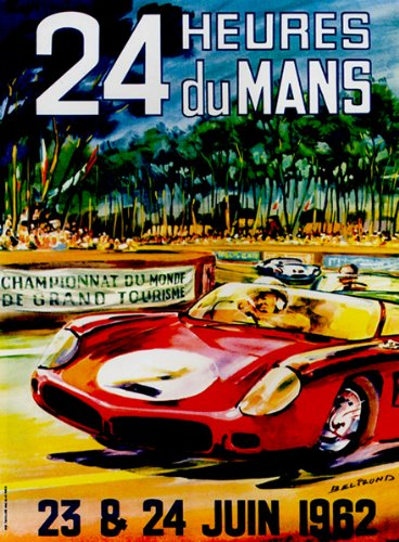 1962 24 Hours of Le Mans Race - Promotional Advertising Poster
