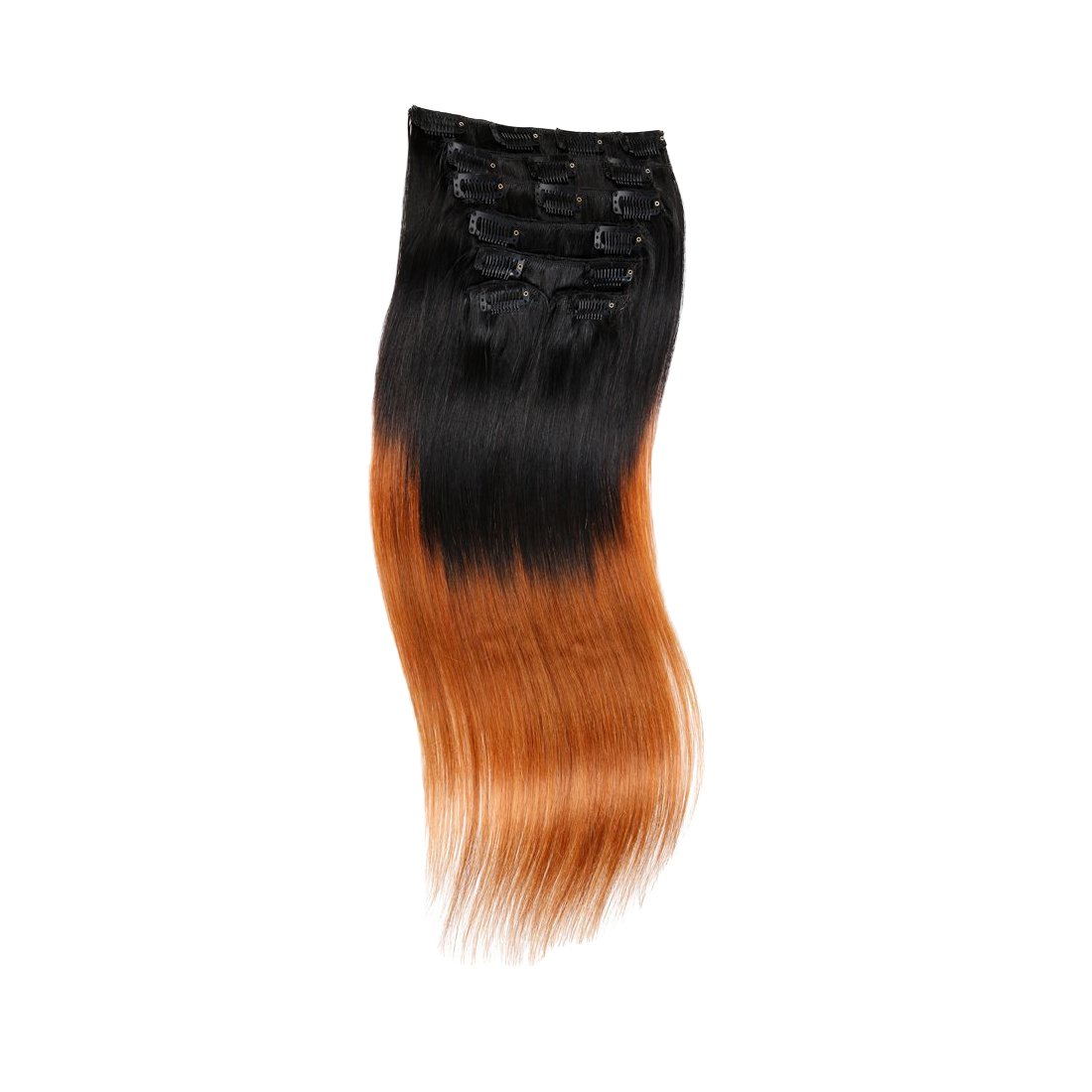 Amazon Ombre Copper Red Hair Extensions Straight Clip In Human