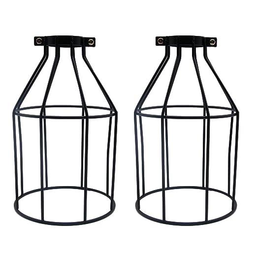 SAVORLIVING - Juego de 2 lámparas de metal para decoración de casa ...
