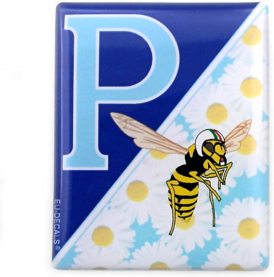 Badge Avant en Forme de d/ôme 3D pour Le Badge Avant de Votre Vespa Blue Daisies et Le Logo MioVespa pour diff/érents mod/èles Vespa de la Collection MioVespa.