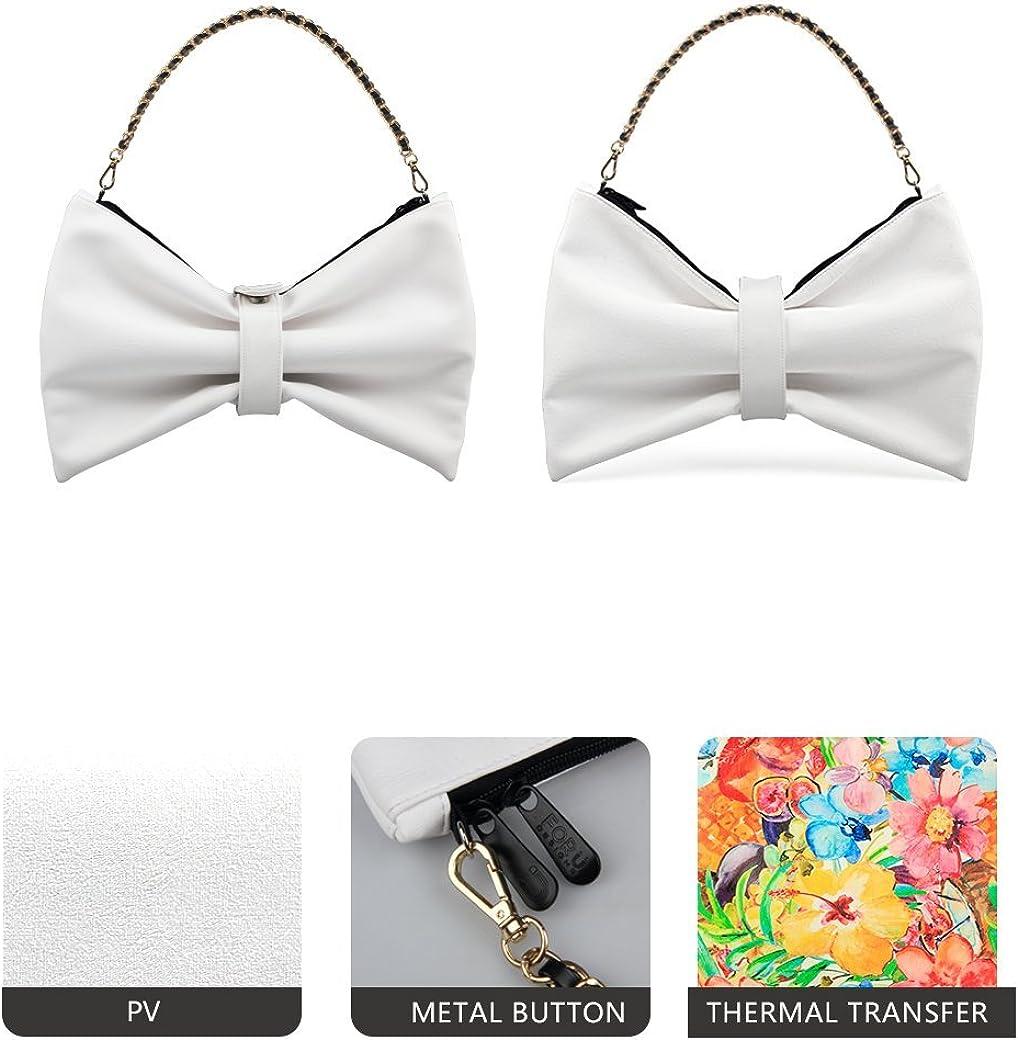 LifeGenius Top Handle Satchel Handbag For Women Bow Switched Shoulder Tote Bag