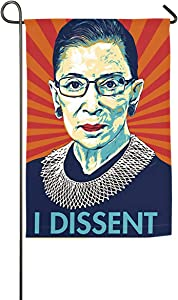 Oussirro Ruth Bader Ginsburg - I Dissent Decorative Garden Sign Courtyard Outdoor Decoration18 X27