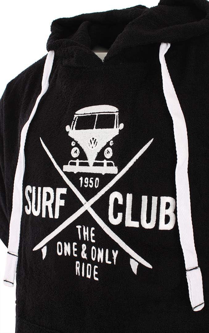 Van One Bademantel Damen und Herren Badeponcho Surf-Poncho Strandponcho Frottee Umziehilfe VW Bulli /»SURF Club/«