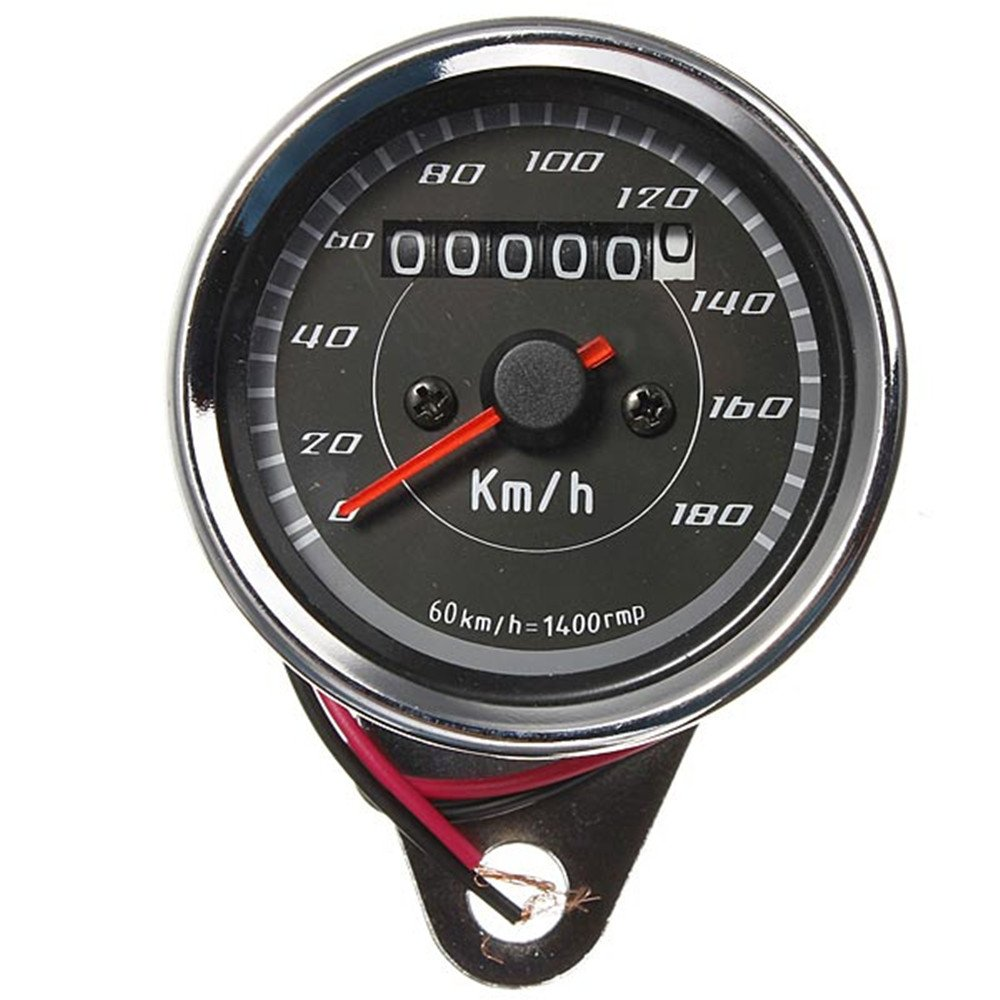 Iztor Motorcycles Modified Instrument Retro LED lights Dual Odometer Speedometer(0-180 km/h)