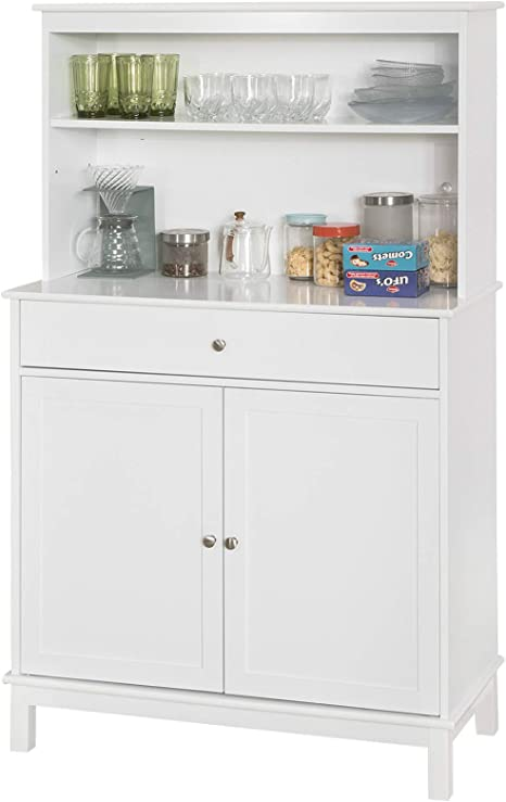Sobuy Fsb26 W Kitchen Cabinet With Drawer And 2 Doors Kitchen Shelf Sideboard With 4 Shelves