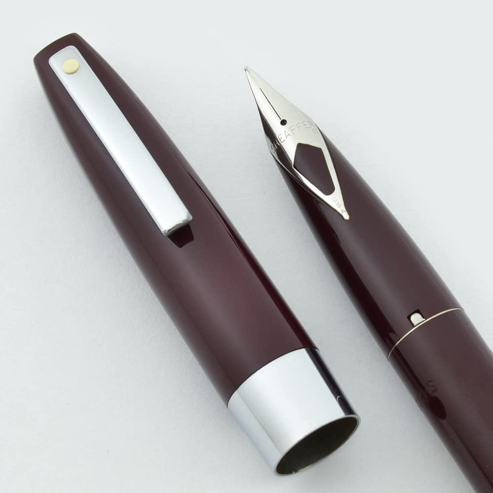 Sheaffer 330 Fountain Pen - 1970s New Old Stock (Burgundy, Fine)