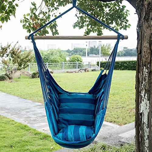 Smart Living Company 10018287 Blue Stripe Hammock Chair (Outdoor Hammock Chair)