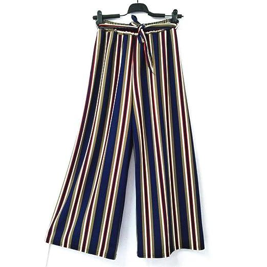OJJFJ Pantalones De Pierna Ancha Pantalones De Pierna Ancha A ...