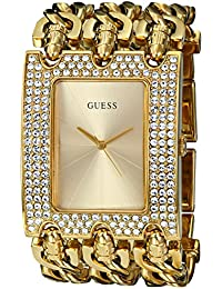 Womens U0085L1 Rocker Glitz Multi-Chain Gold-Tone Bracelet Watch