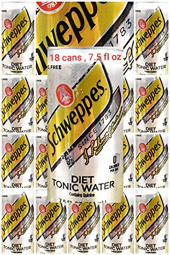 Schwepps diet tonic water sleek, 7.5 fl oz, 18 cans