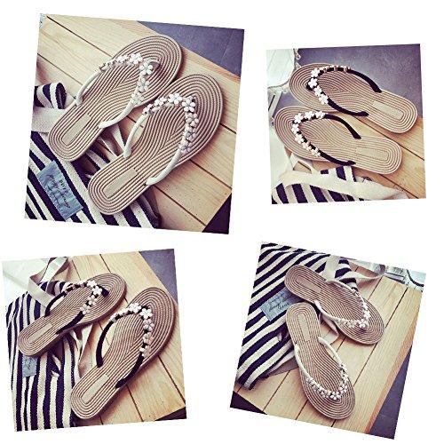 White In In Metallo Pantofole Moda Spiaggia Infradito Womens Metallo Casual DCRYWRX E Moda Da Sandali 6Rfnw7q