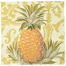 Caspari Entertaining 20-Pack Royal Pineapple Gold Dinner Napkins