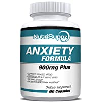 Anxiety Relief Stress Relief Supplement 900mg For Men & Women With Gaba, L-Theanine, 5-HTP, Ashwagandha, Magnesium Oxide, St. John's Wort, Chamomile Positive Mood, Relaxed, Promote Higher Serotonin