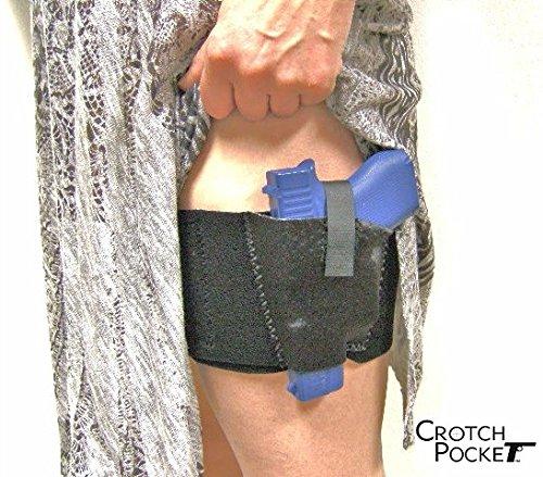 Crotch Pocket USA Standard Model Women's Thigh Holster. (Left Leg/Left Draw). (Best 9mm Pocket Pistol 2019)