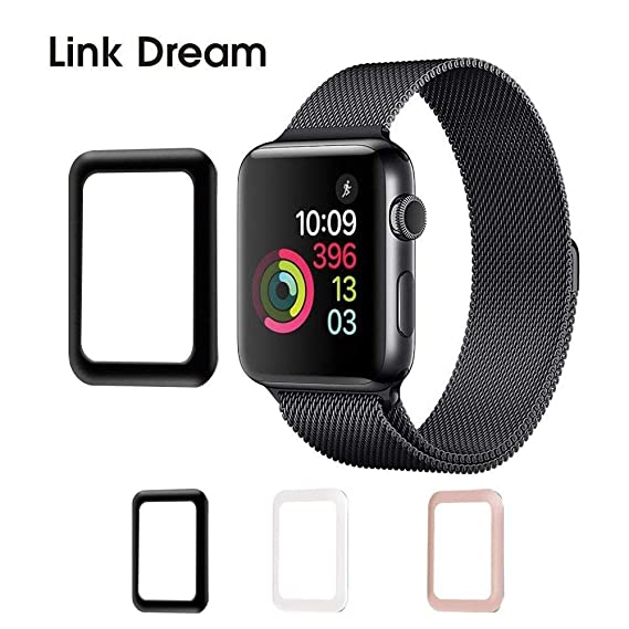 the latest 0270d 767f9 Apple Watch Tempered Glass 42mm Series 2-3D Metal Frame Full Coverage  Screen Protector [Anti-Bubble] [Scratch Resistant] [Waterproof] for Apple  Watch, ...