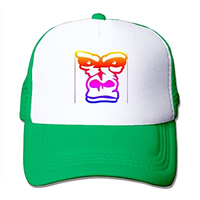 1df8310e0e5e9 AKQQ0XXA Custom Fashion Unisex-Adult Baby Girl Gorillas Trucker Cap Hat  Kellygreen
