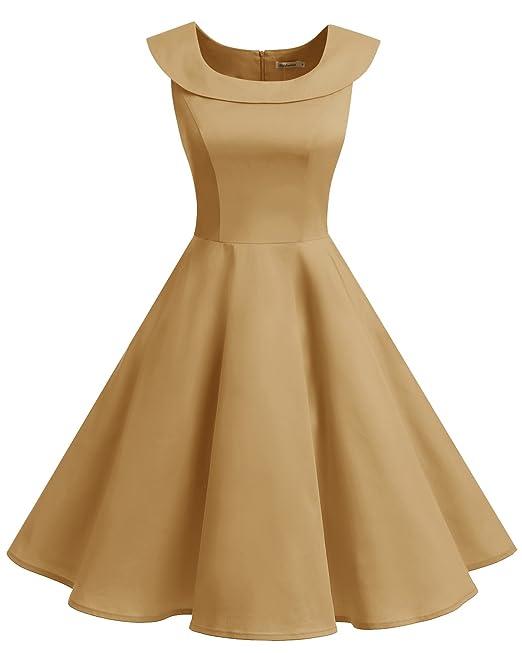 Bbonlinedress Vestidos Mujer De Estilo 1950 Vintage Rockabilly Retro Cóctel Fiesta Ginger L