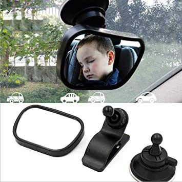 Baby Backseat Mirror for Car Wide Convex Baby Car Mirror Rear Facing Baby Rear View Mirror for All of Car with Sucktion Cup and Clip