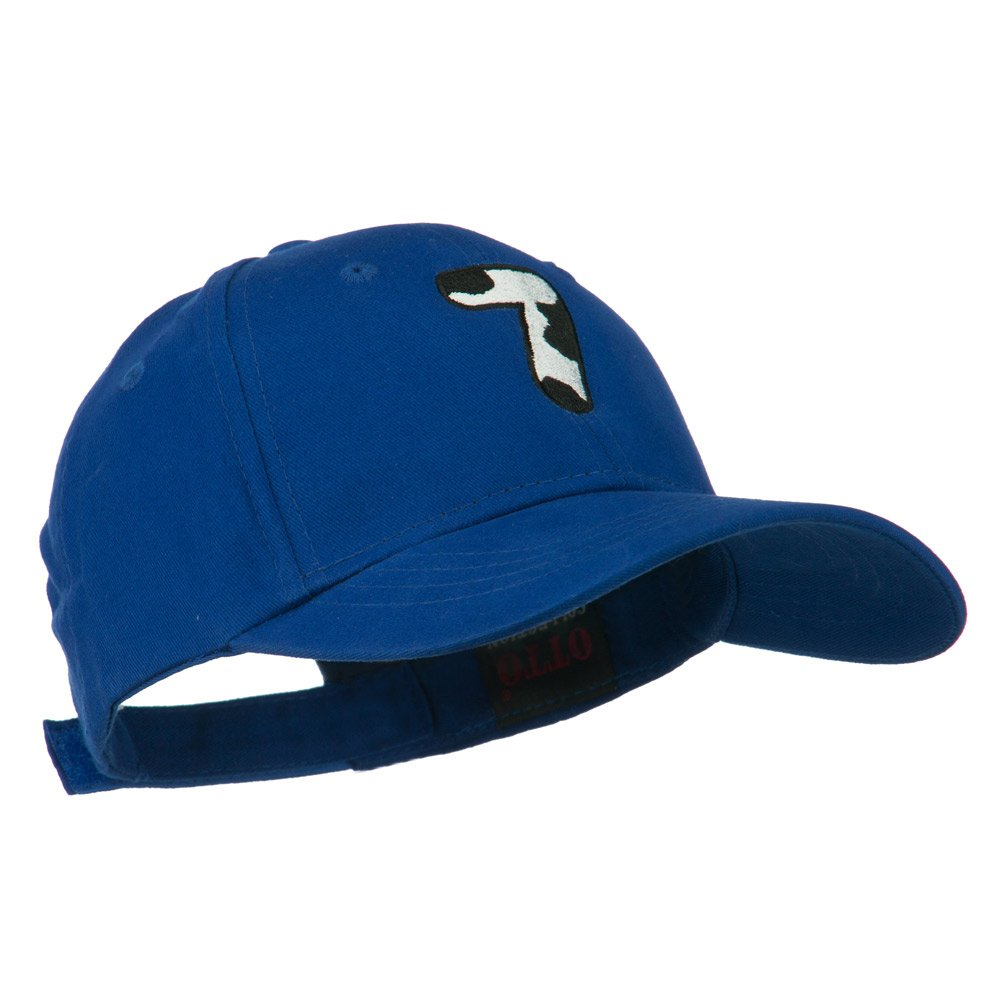 e4Hats.com Holstein Number Embroidered Youth Brushed Cap