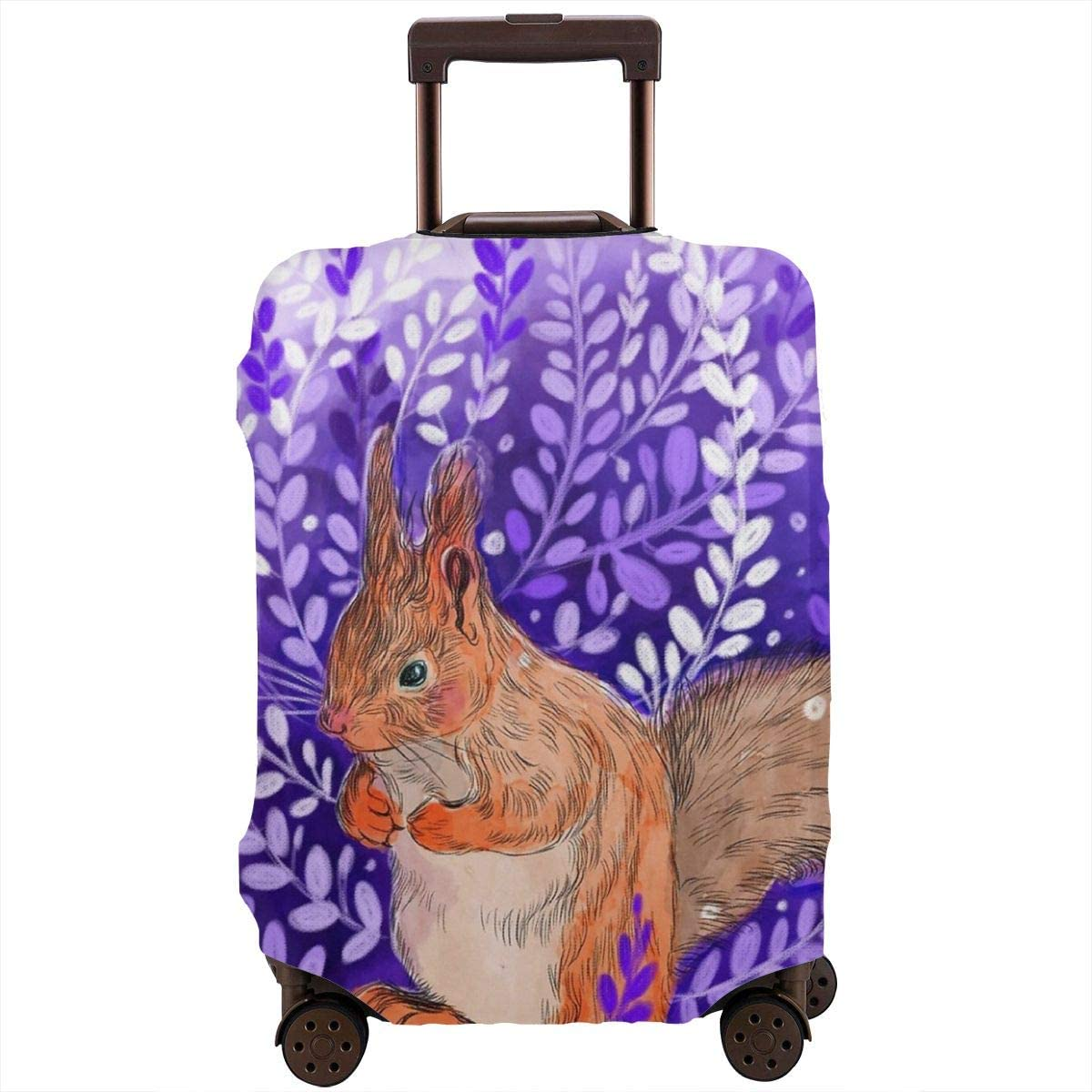 Luggage Cover Chipmunk Purple Primrose Protective Travel Trunk Case Elastic Luggage Suitcase Protector Cover