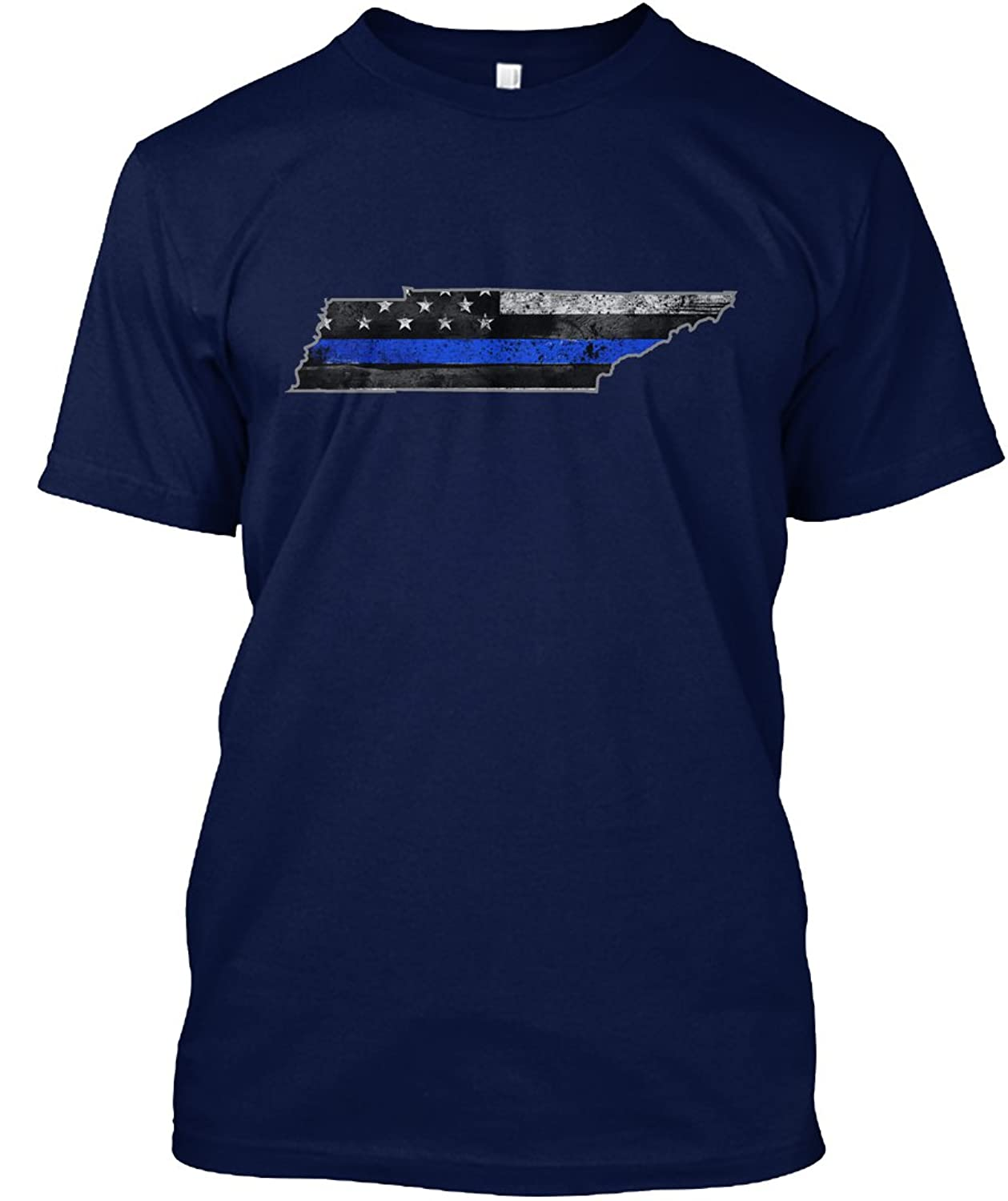 Teespring Unisex Tennessee Thin Blue Line Hanes Tagless T-Shirt