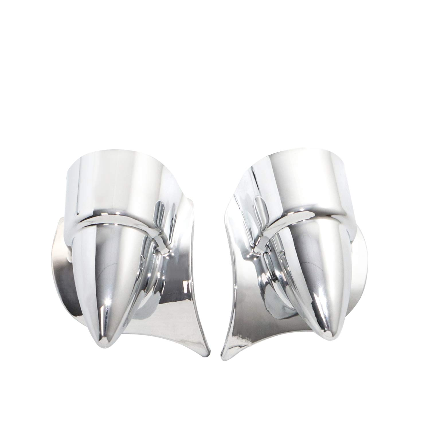 Senkauto Fork Lower Leg Deflector Shield Fender and Nut Cover For Harley Touring Electra Road Street Tri Glide 2000-2013 Chrome