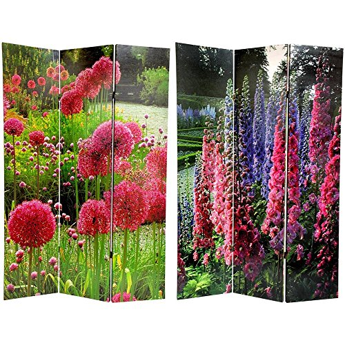Floral Oriental Room Divider (Oriental Furniture 6 ft. Tall Floral Double Sided Room Divider)