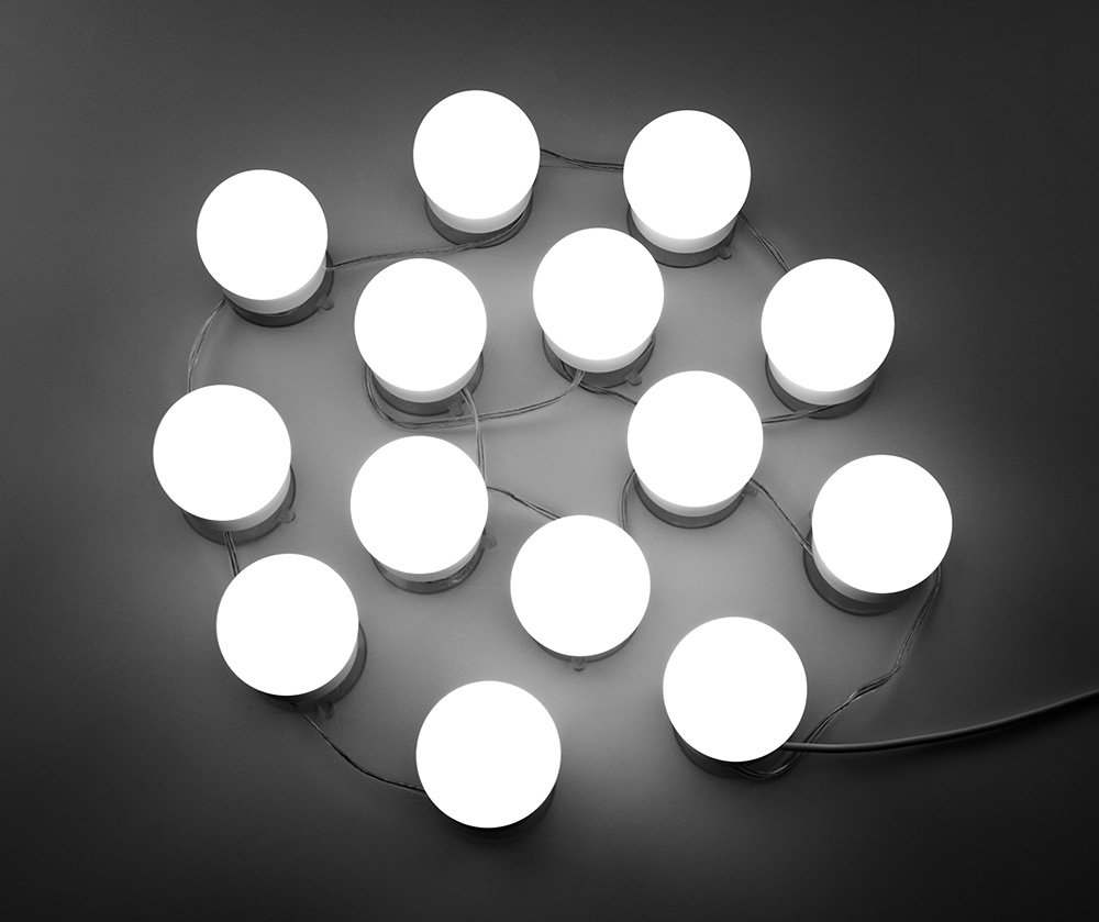 WanEway Hollywood DIY Vanity Lights Strip Kit for Lighted Makeup Dressing  Table Mirror Plug in LED Lighting Fixture with Dimmer and Power Supply, ... - WanEway Hollywood DIY Vanity Lights Strip Kit For Lighted Makeup