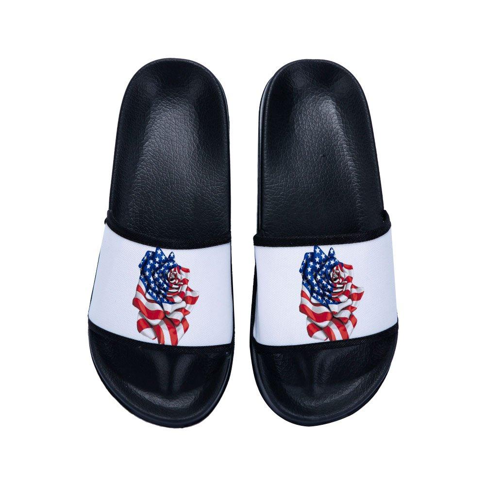 Drew Toby Boys Girls Slide Sandals Flower Anti-Slip Stylish Beach Sandals Shower Shoes(Little Kid/Big Kid)