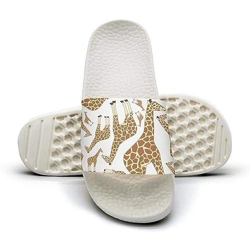 Amazon.com: Sandalias con patrón de jirafa para hombres: Shoes