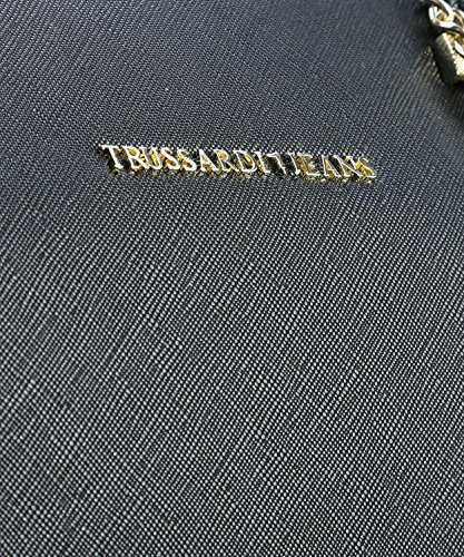 schwarz Trussardi Borse Donna BAG a schwarz ECOSAFFIANO 1Y090122 DOCTOR 75B00015 LEVANTO mano K2 Jeans 71q76Rwg
