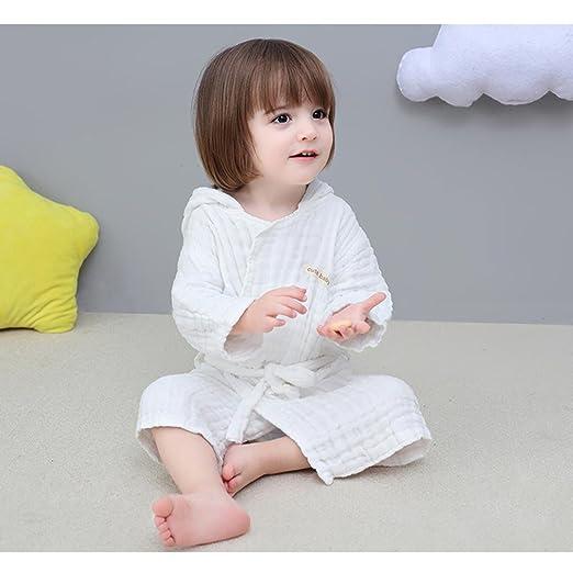 KK&MM Gasa de algodón bebé Albornoz con Tapa Absorbente recién ...